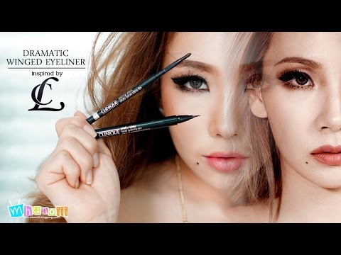 How To : Dramatic Winged Eyeliner inspired by CL 2NE1& Review : Clinique Makeup Fall 2015 [Thai-ไทย]