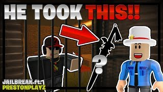 Ho ottenuto l'elemento RAREST, allora HA TOOK QUESTO!!! (Jailbreak ft. PRESTON #2) - Linkmon99 ROBLOX
