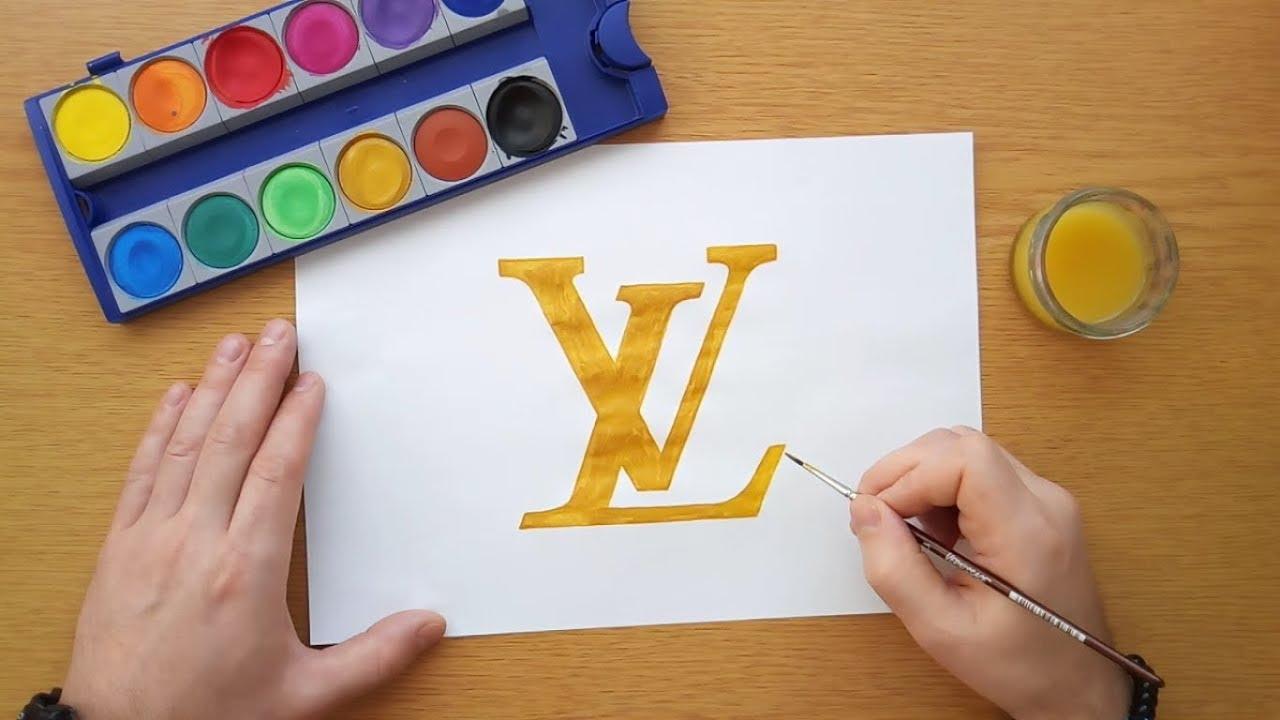 b239aee37ac67 How to draw a Louis Vuitton logo (Comment dessiner un logo Louis Vuitton)
