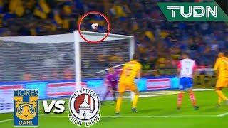 ¡Travesaño de Edu Vargas! | Tigres 0 - 0 San Luis | Liga Mx - CL 2020 J1 | TUDN