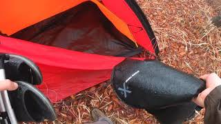 이건머! 비오는 숲속 호텔이자나?/우중캠핑/솔로백패킹/…