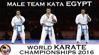 BRONZE MEDAL. Male Team Kata EGYPT. 2016 World Karate Championships.