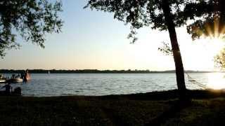Abendstimmung am Plauer See, Naturcamping Zwei Seen in Zislow, Mecklenburgische Seenplatte