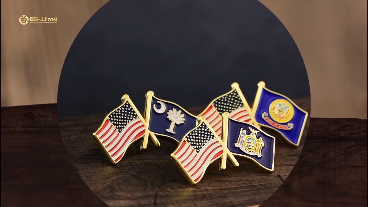 Flag Pins | American Flag Pin + 100 % Guarantee at GS-JJ com™