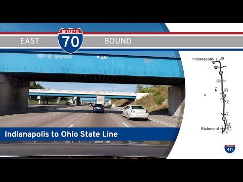 Interstate 70 - Indianapolis to Richmond - Indiana |  Drive America's Highways 🚙