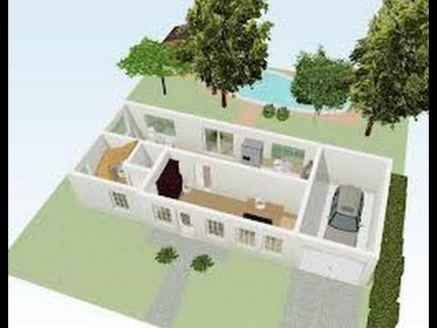 Planos de casa de campo youtube for Plano casa campo