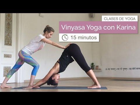 Clase de Yoga: Vinyasa Yoga con Karina (15 minutos)