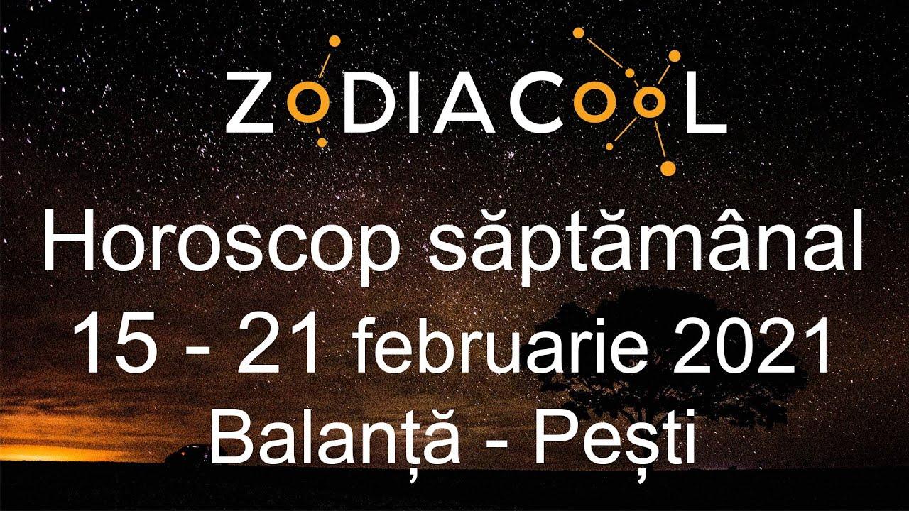 Horoscop saptamana 15 - 21 Februarie 2021 pentru Balanță - Pești, oferit de ZODIACOOL