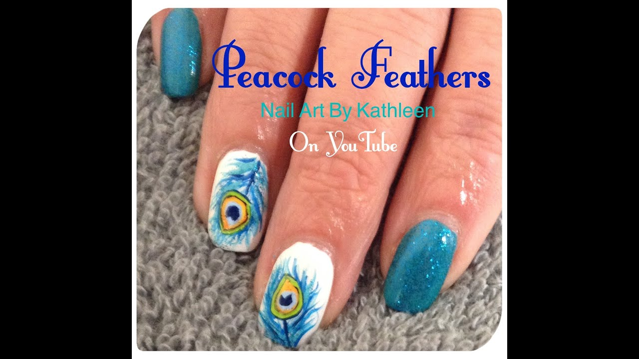 Peacock Feather Nail Art Tutorial Bigking Keywords And Pictures