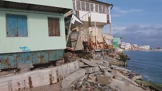 Оползень Черноморск 2017 часть 2. landslide. Одесса. Ужас. Руины. Марадеры. Ильичевск.