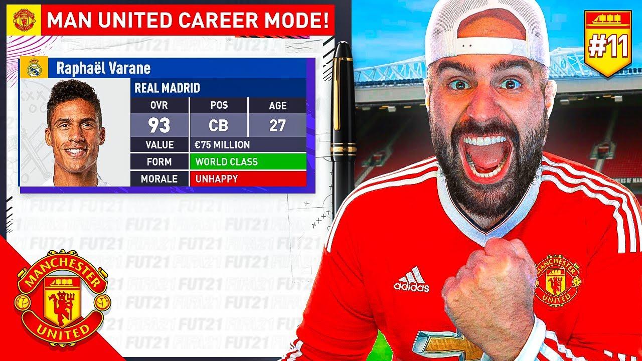 OMG SIGNING A HUGE SUPERSTAR!! FIFA 21 Manchester United Career Mode