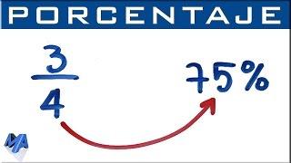 Convertir fracción a porcentaje