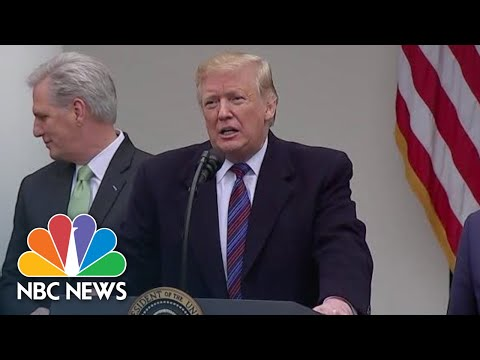 President Donald Trump: 'I Could' Declare National Emergency For Border Wall Funding | NBC News