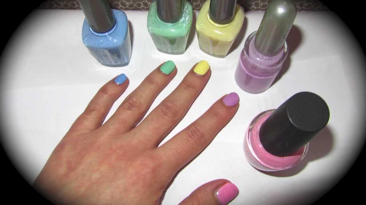 How To Make Pastel Color Nail Polishes Come Realizzare Smalti Colore Pastello You