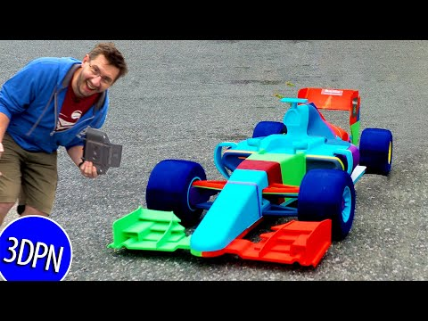 Worlds Largest OpenRC F1 3D Printed RC Car - IT DRIVES!