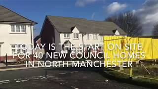 Work starts on site for new Council Homes in North Manchester
