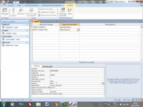 Tutorial 2 ACCESS 2007 Exemple de base de données Gestion des Compte SEG ENSET 2012