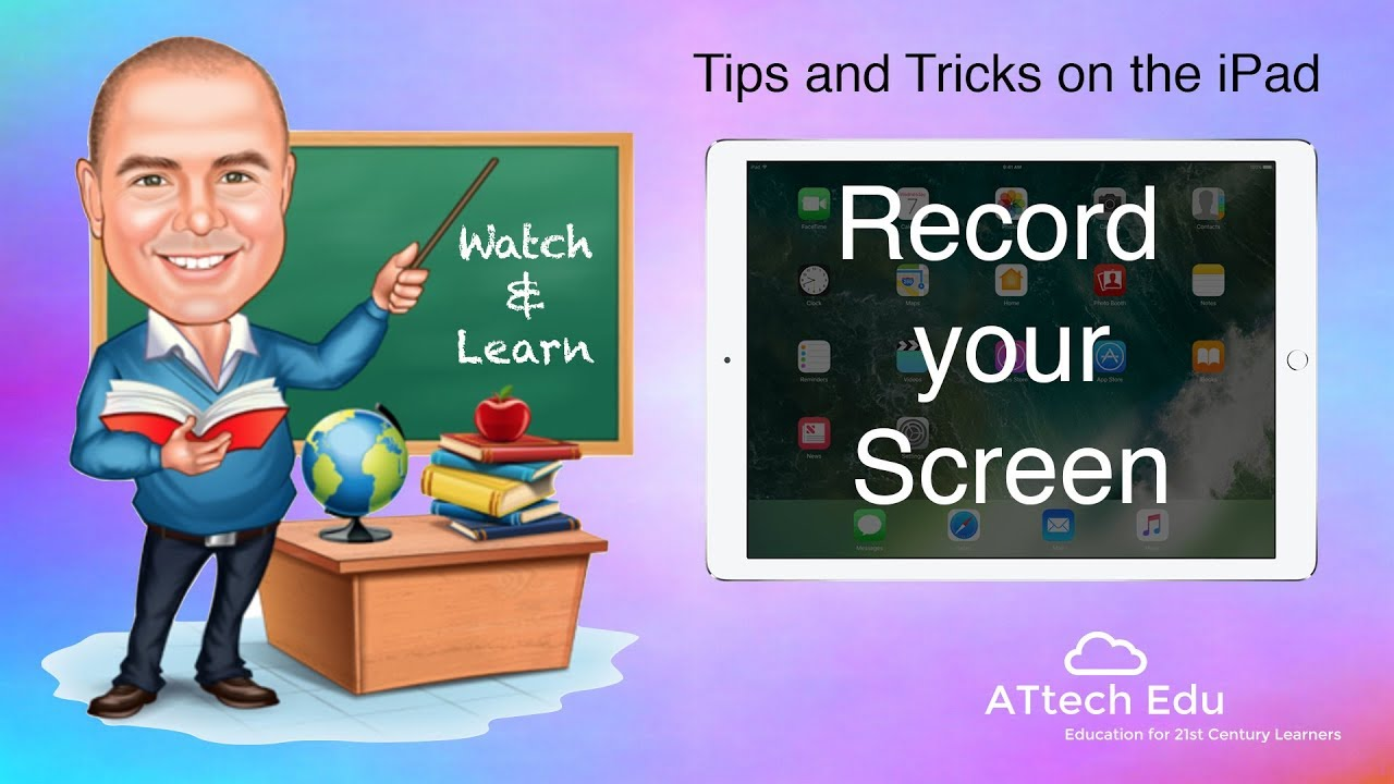 Screen recording in iOS 11 on the iPad - Record your Screencast as a video - Control Centre tools - YouTube