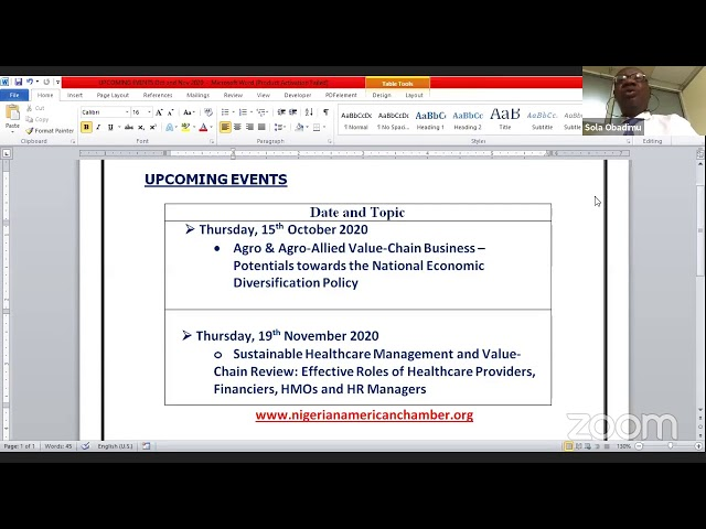 USAID Activities with the West African Trade and Investment Hub