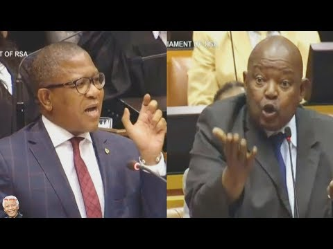 Fikile Mbalula vs Mosiuoa Lekota In  Parliament