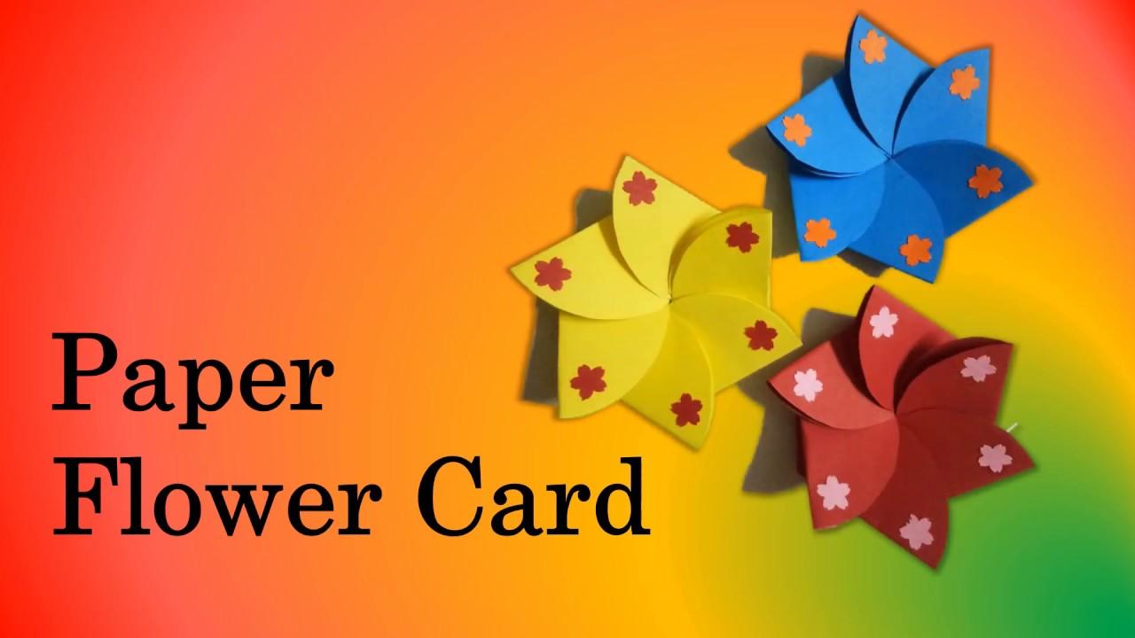 flower envelope cardpaper flower card  youtube