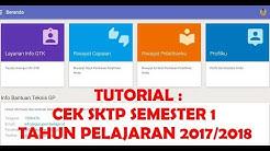 TUTORIAL : Cek SKTP Semester 1 Tahun Pelajaran 2017/2018