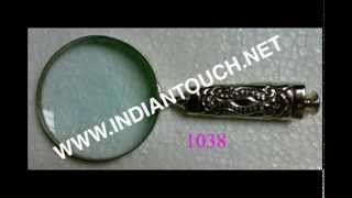 Magnifying Glasses With Brass Antique Handle-indian Touch