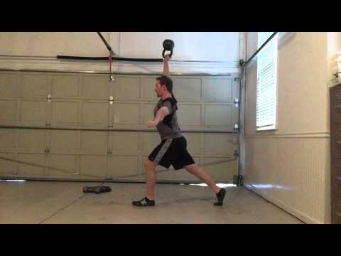 Bottoms-Up Overhead Lunge