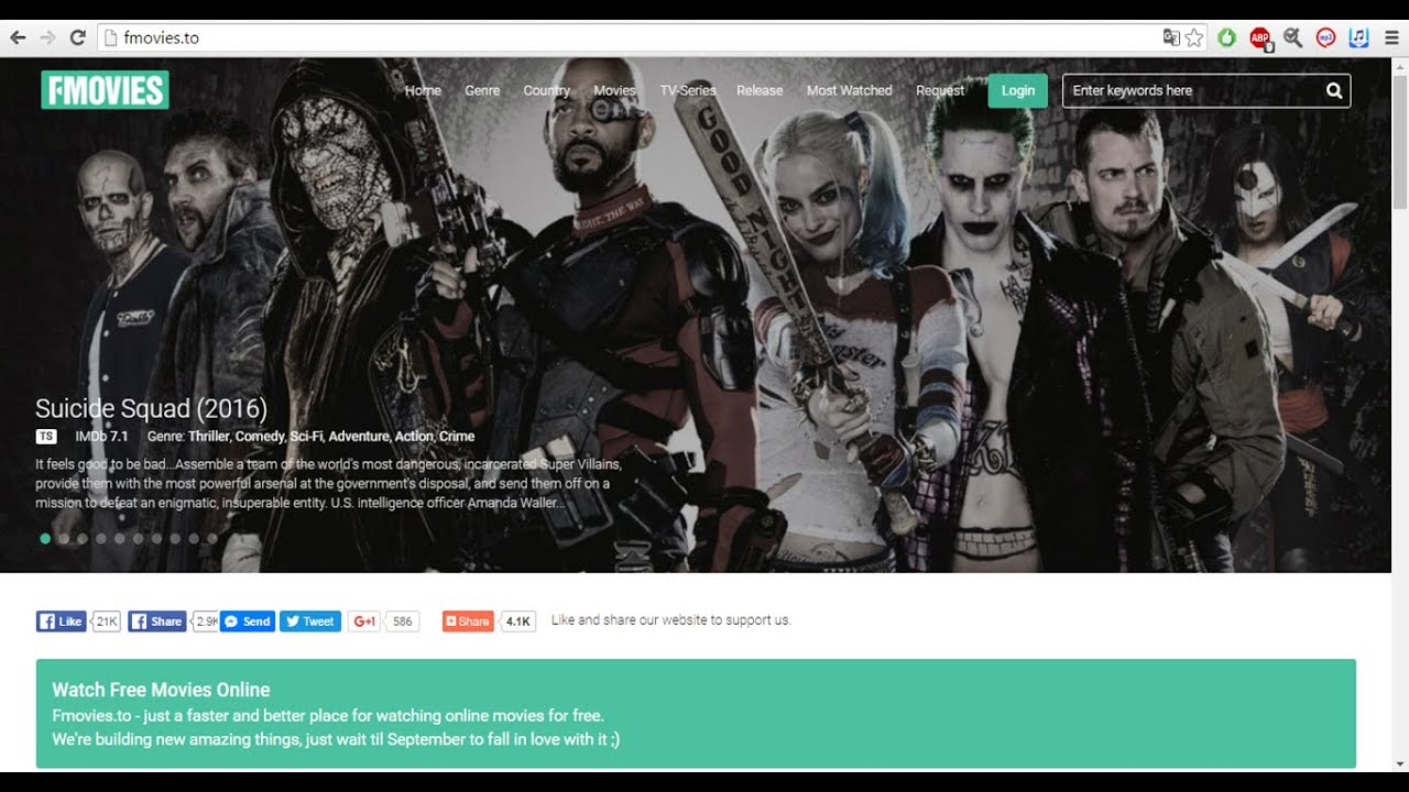 Fmovies - Best 6 Sites To Watch Movies For Free 2016 17