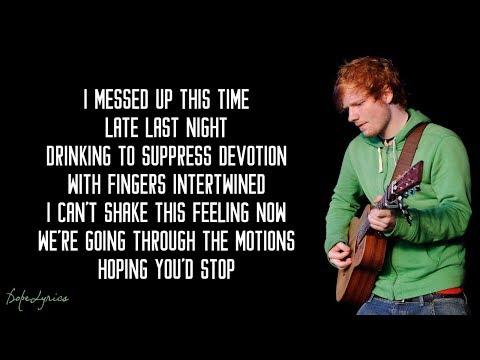 I'm A Mess - Ed Sheeran (Lyrics)