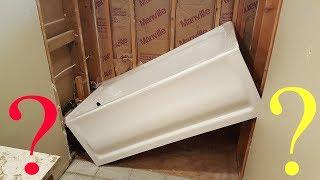 Bath remodeling. New bathtub installation. Установка ванны