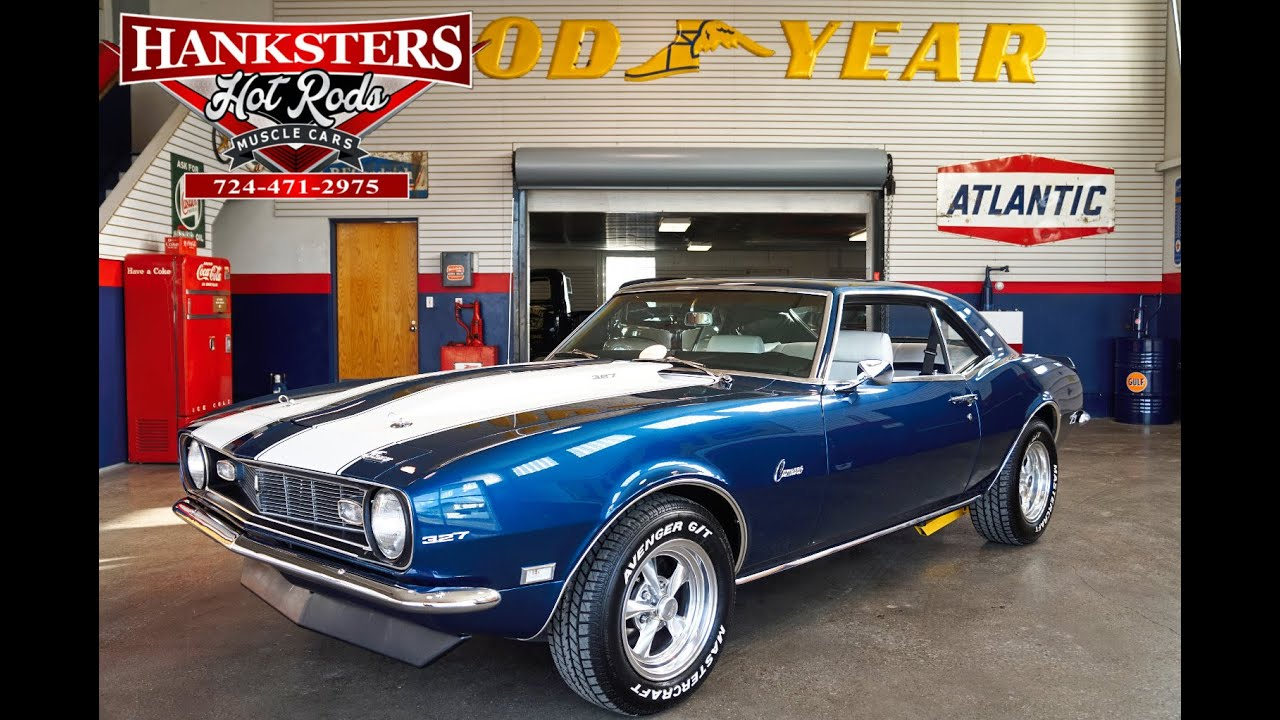 1968 Chevy Camaro 327ci 4 Speed Manual Blue With White Stripes Chevrolet Rs Z28 Youtube