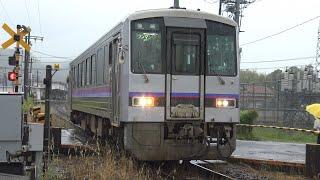【4K】JR美祢線 普通列車キハ120形気動車 キハ120-323 美祢駅発車
