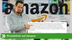 Produkttitel auf Amazon | Fairrank TV