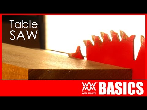 7 Things To Get You Started Using A Table Saw   WOODWORKING BASICS