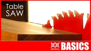 7 Things To Get You Started Using A Table Saw WWMM BASICS