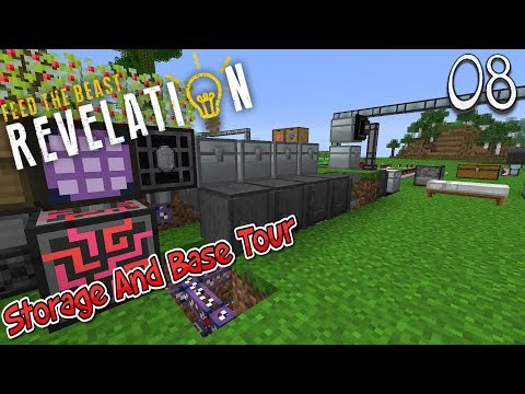 Lets Play Feed The Beast Revelation - Storage And Base Tour (8)