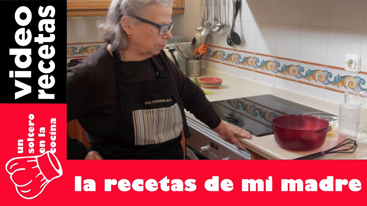 Peras Rellenas De Chocolate Con Natillas Mi Madre En La Cocina Youtube