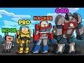 Minecraft - TRANSFORMERS CHALLENGE! (NOOB vs PRO vs HACKER vs GOD)