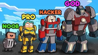 Minecraft - TRANSFORMERS CHALLENGE! (NOOB vs PRO vs HACKER vs GOD)