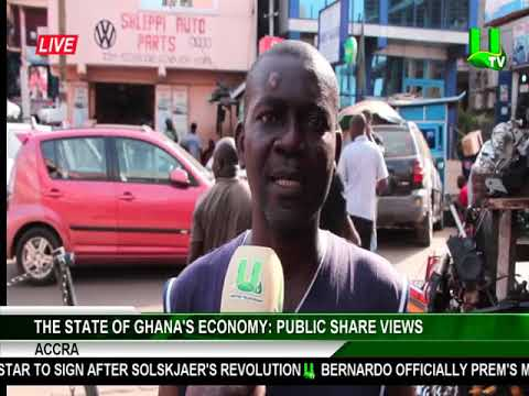Public share views on the state of Ghana's economy