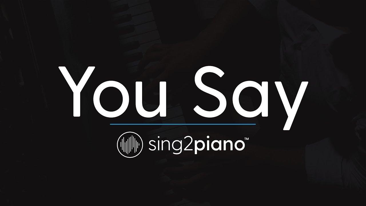 You Say (Piano Karaoke Instrumental) Lauren Daigle image
