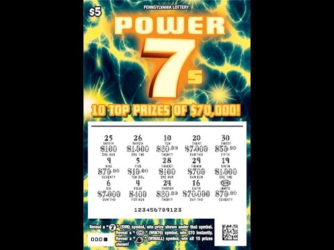 *Scratching $300 worth of Lottery tickets* Ticket giveaway! Power 7s PA lottery tickets!