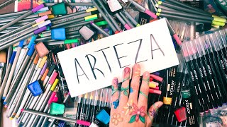 HUGE Arteza Art Supply Review | I USED THEM ALL