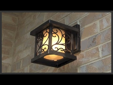 How to replace exterior house lights - YouTube