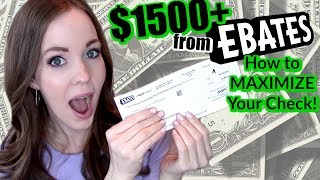 DOES EBATES WORK? | I MADE $1500+! | HOW TO MAXIMIZE YOUR EBATES CHECK | GET PAID TO SHOP ONLINE!