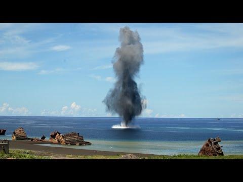 海上自衛隊 硫黄島で機雷掃海訓練