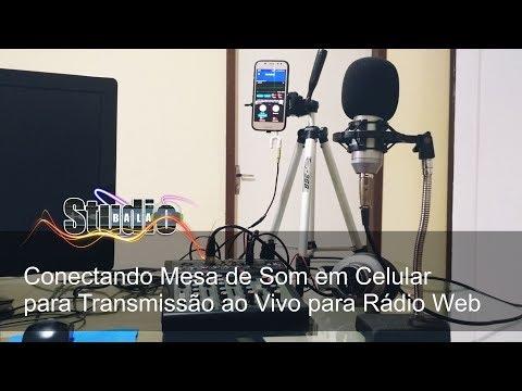 Conectando Mesa de Som em Celular para Transmissão ao Vivo para Rádio Web