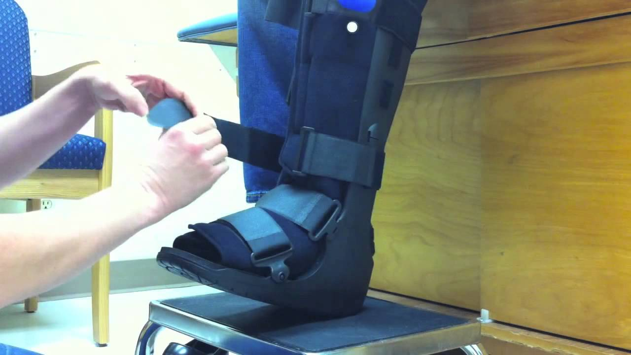 How to Apply Your Air Walker Boot, customize your boot for comfort