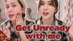 Get Unready With Me | Mẹ Cam ở nhà một mình Vlog 169